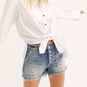 NWT Free People Jesse Carpenter Short in Denim